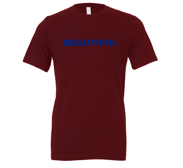 Beautiful | Maroon_Blue Motivational T-Shirt | EntreVisionU