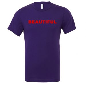 Beautiful | Purple_Red Motivational T-Shirt | EntreVisionU