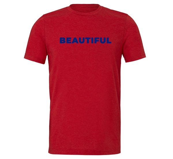 Beautiful | Red_Blue Motivational T-Shirt | EntreVisionU