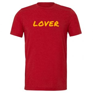 Lover - Red_Yellow Motivational T-Shirt | EntreVisionU
