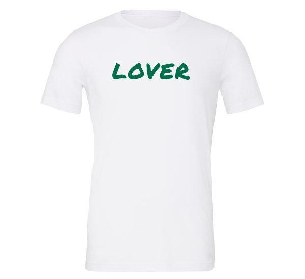 Lover - White_Green Motivational T-Shirt | EntreVisionU