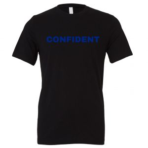 Confident - Black-Blue Motivational T-Shirt | EntreVisionU