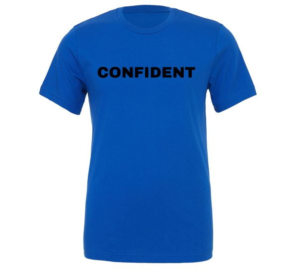 Confident - Blue-Black Motivational T-Shirt | EntreVisionU