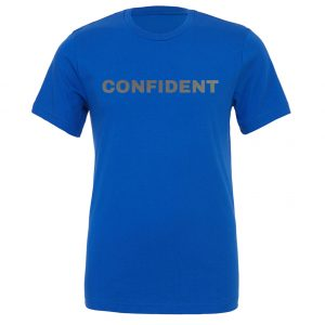 Confident - Blue-Silver Motivational T-Shirt | EntreVisionU