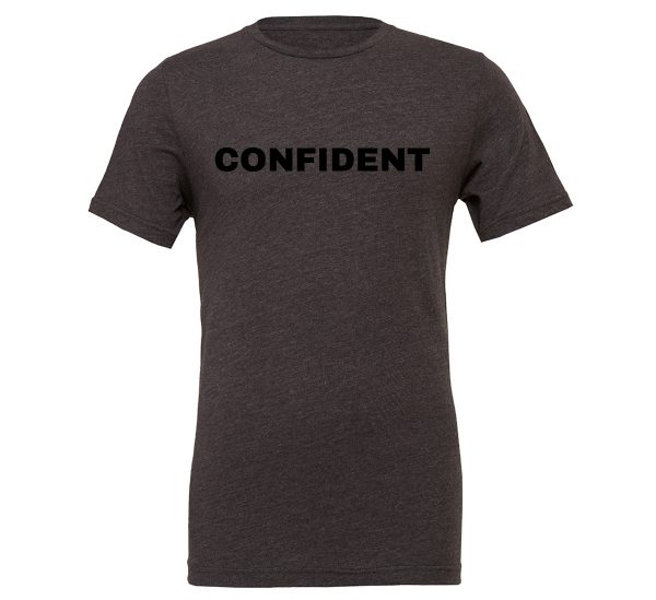 Confident - Dark_Gray-Black Motivational T-Shirt | EntreVisionU