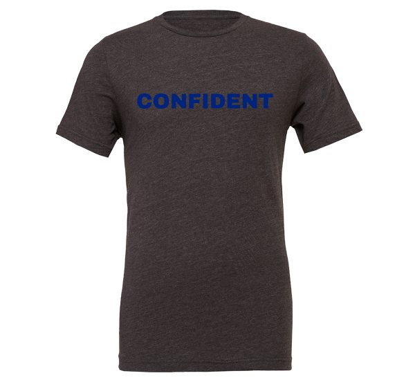Confident - Dark_Gray-Blue Motivational T-Shirt | EntreVisionU
