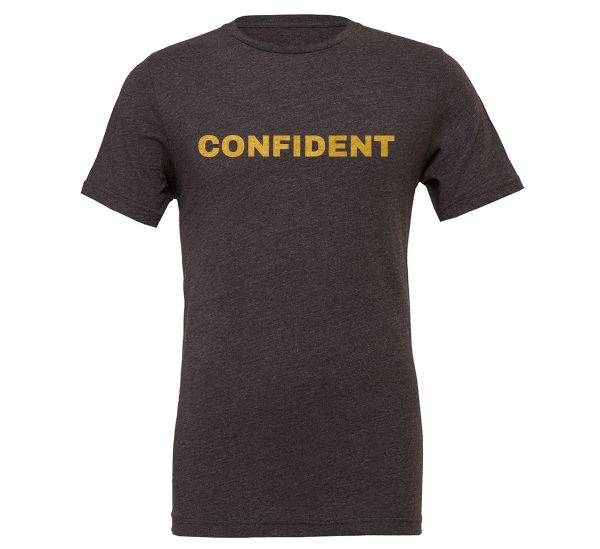 Confident - Dark_Gray-Gold Motivational T-Shirt | EntreVisionU