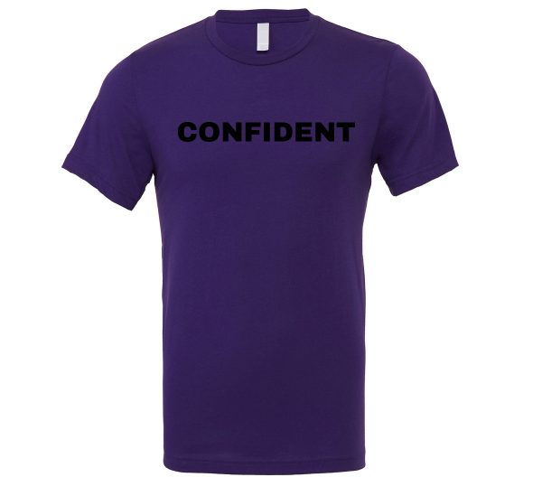 Confident - Purple-Black Motivational T-Shirt | EntreVisionU