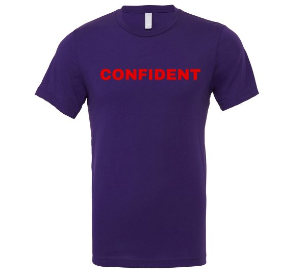 Confident - Purple-Red Motivational T-Shirt | EntreVisionU