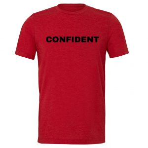 Confident - Red-Black Motivational T-Shirt | EntreVisionU
