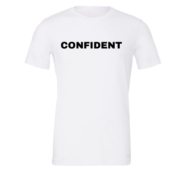 Confident - White-Black Motivational T-Shirt | EntreVisionU