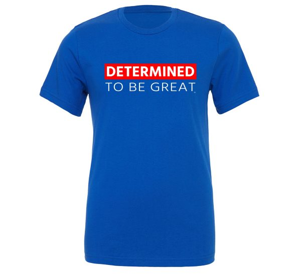 Determined To Be Great | Black-White-Red T-Shirt Motivational T-Shirt | EntreVisionU