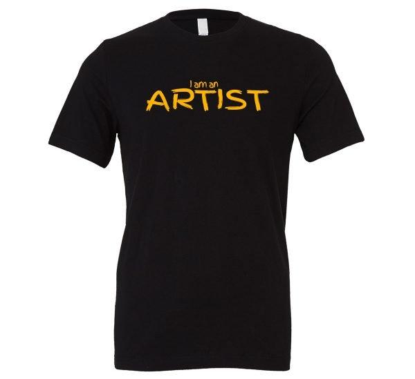 I am an Artist - Black_Yellow Motivational T-Shirt   EntreVisionU