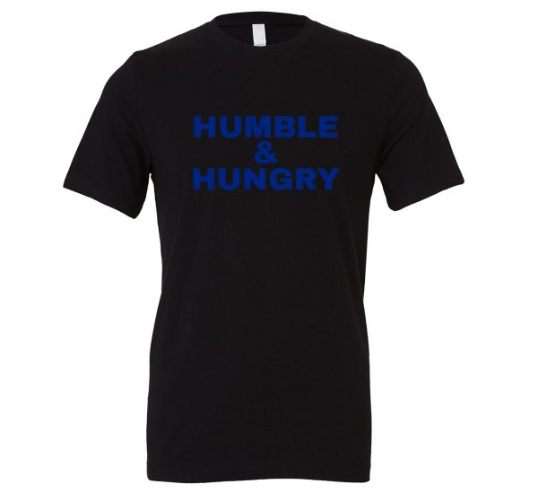 Humble and Hungry - Black-Blue Motivational T-Shirt | EntreVisionU