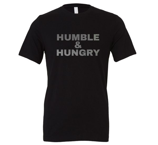 Humble and Hungry - Black-Silver Motivational T-Shirt | EntreVisionU