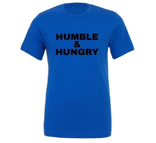 Humble and Hungry - Blue-Black Motivational T-Shirt | EntreVisionU
