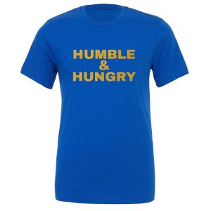 Humble and Hungry - Blue-Gold Motivational T-Shirt | EntreVisionU