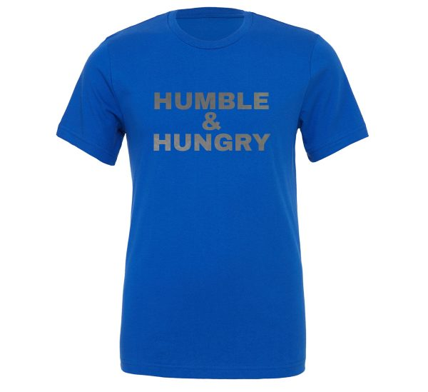 Humble and Hungry - Blue-Silver Motivational T-Shirt | EntreVisionU