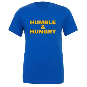 Humble and Hungry - Blue-Yellow Motivational T-Shirt | EntreVisionU