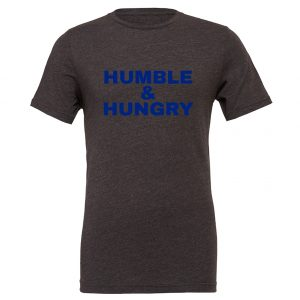 Humble and Hungry - Dark_Gray-Blue Motivational T-Shirt | EntreVisionU