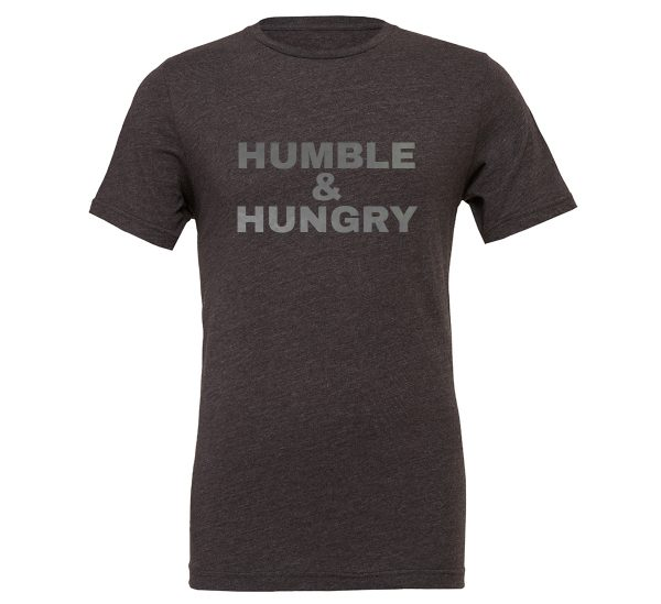 Humble and Hungry | Dark_Gray-Silver T-Shirt | EntreVisionU