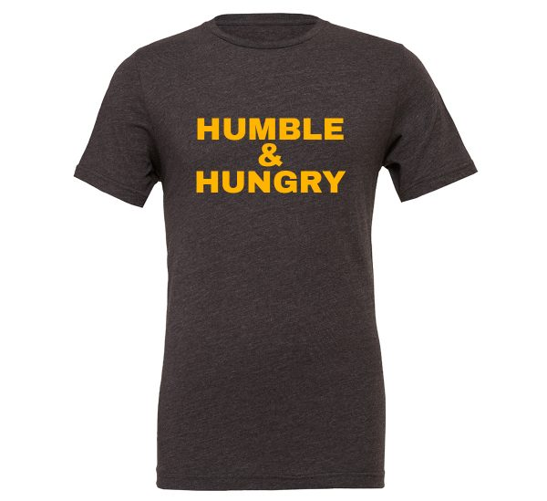 Humble and Hungry - Dark_Gray-Yellow Motivational T-Shirt | EntreVisionU