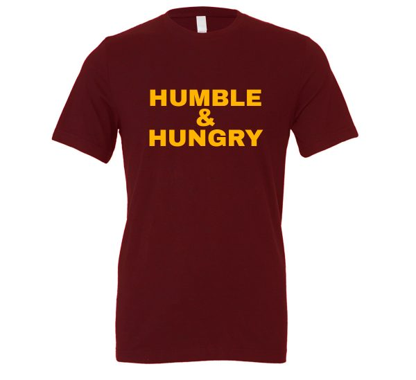 Humble and Hungry - Maroon-Yellow Motivational T-Shirt | EntreVisionU
