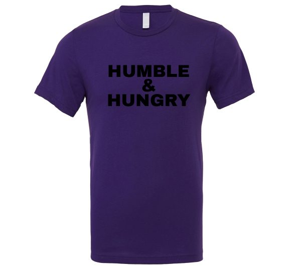 Humble and Hungry - Purple-Black Motivational T-Shirt | EntreVisionU