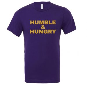 Humble and Hungry - Purple-Gold Motivational T-Shirt | EntreVisionU