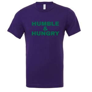 Humble and Hungry - Purple-Green Motivational T-Shirt | EntreVisionU