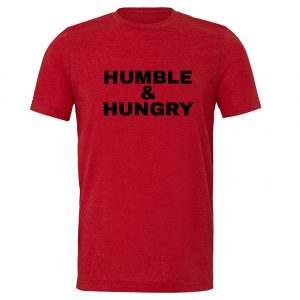 Humble and Hungry - Red-Black Motivational T-Shirt | EntreVisionU