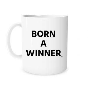Born a Winner - White_Black 11 oz Coffee Mug Left_Side | EntreVisionU