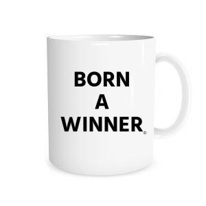 Born a Winner - White_Black 11 oz Coffee Mug Right_Side | EntreVisionU