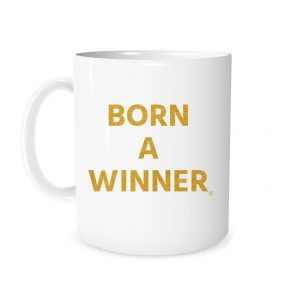 Born a Winner White_Gold 11 oz Mug Left_Side EntreVisionU