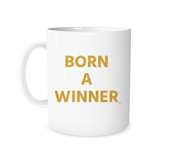 Born a Winner White_Gold 11 oz Mug Left_Side EntreVisionU