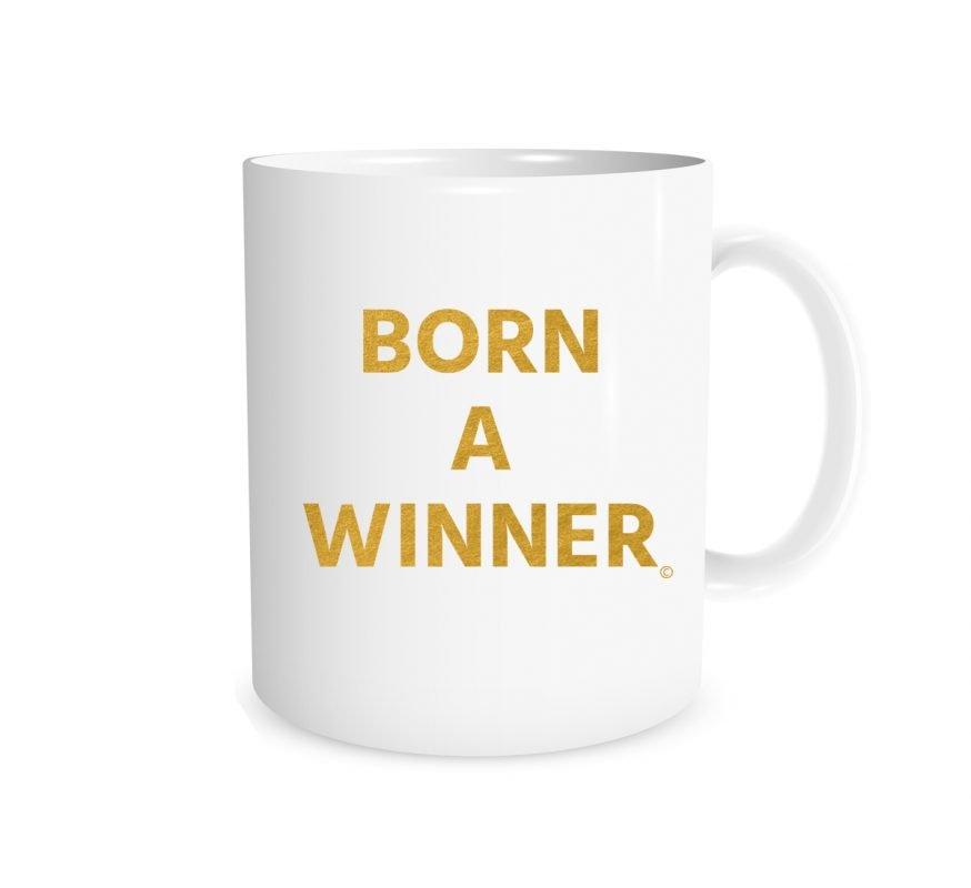 Born a Winner - White_Gold 11 oz Mug EntreVisionU