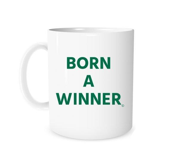 Born a Winner - White_Green 11 oz Mug EntreVisionU