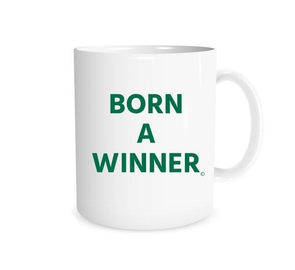 Born a Winner - White_Green 11 oz Mug | EntreVisionU