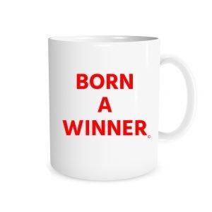 Born a Winner - White_Red 11 oz Mug EntreVisionU