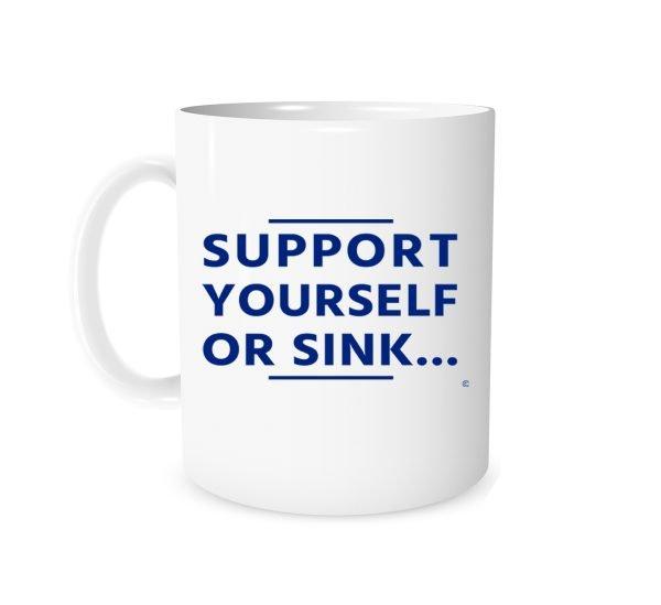 Support Yourself Or Sink 11 oz Coffee Mug Left Side EntreVisionU