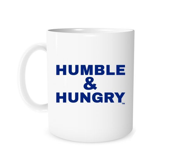 Humble and Hungry - White_Blue 11 oz Mug | EntreVisionU