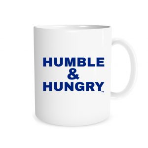 Humble and Hungry | White_Blue 11 oz Mug | EntreVisionU