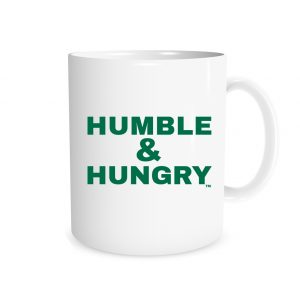 Humble and Hungry - White_Green 11 oz Mug | EntreVisionU
