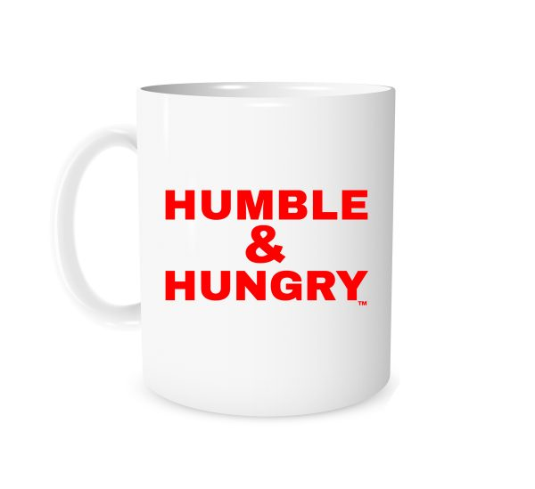 Humble and Hungry White_Red 11 oz Mug EntreVisionU