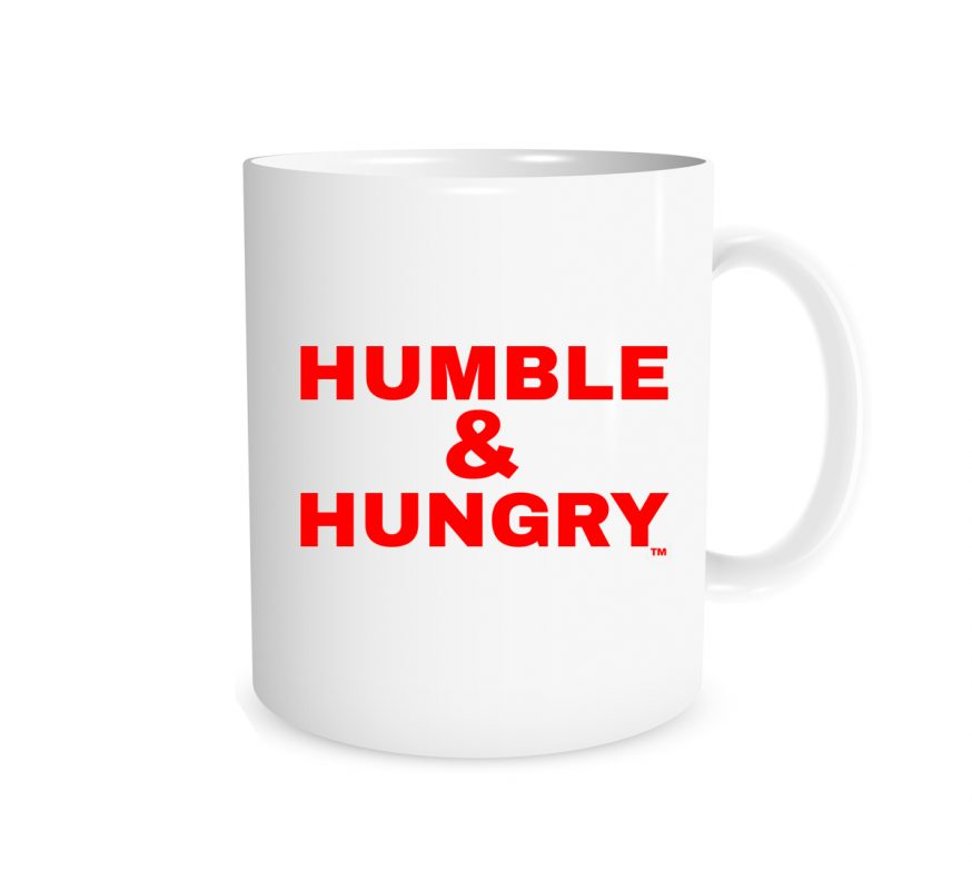 Humble and Hungry - White_Red 11 oz Mug | EntreVisionU