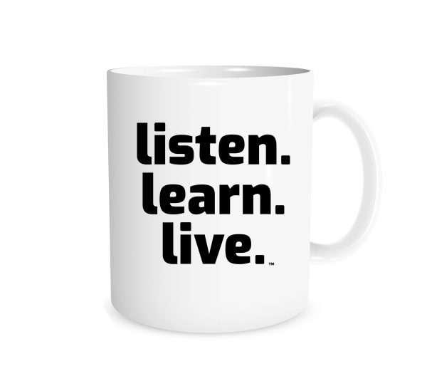 Listen Learn Live - White_Black 11 oz Mug   EntreVisionU