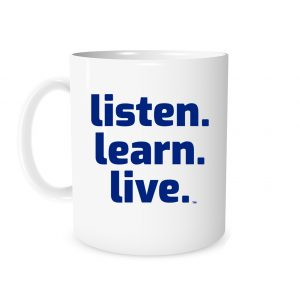 Listen Learn Live - White_Blue 11 oz Mug | EntreVisionU
