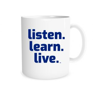 Listen Learn Live - White_Blue 11 oz Mug - EntreVisionU