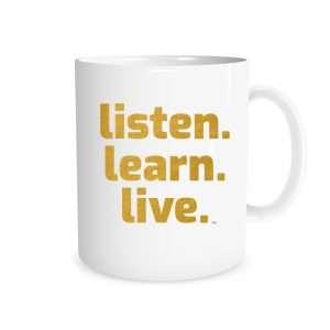 Listen Learn Live - White_Gold 11 oz Mug   EntreVisionU