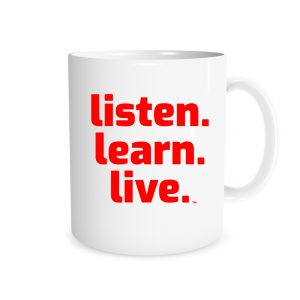 Listen Learn Live - White_Red 11 oz Mug   EntreVisionU